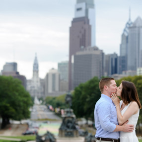 Philadelphia art museum engagement photos